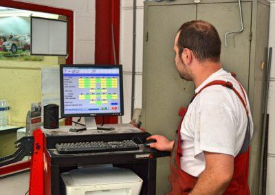 banc de geometrie ouvrier ordinateur garage duval