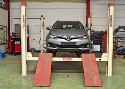 banc de geometrie voiture toyota garage duval
